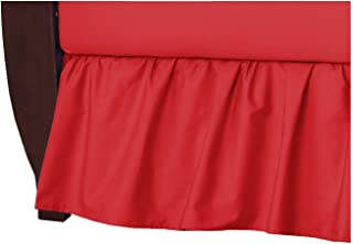 American Baby Company 100% Natural Cotton Percale Ruffled Crib Skirt, Red, Soft Breathable, for Boys and Girls