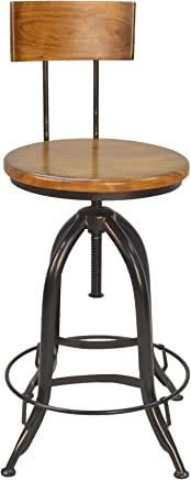 featured product Carolina Chair & Table 1CF1525WB Back Adjustable Stool Chestnut/Black