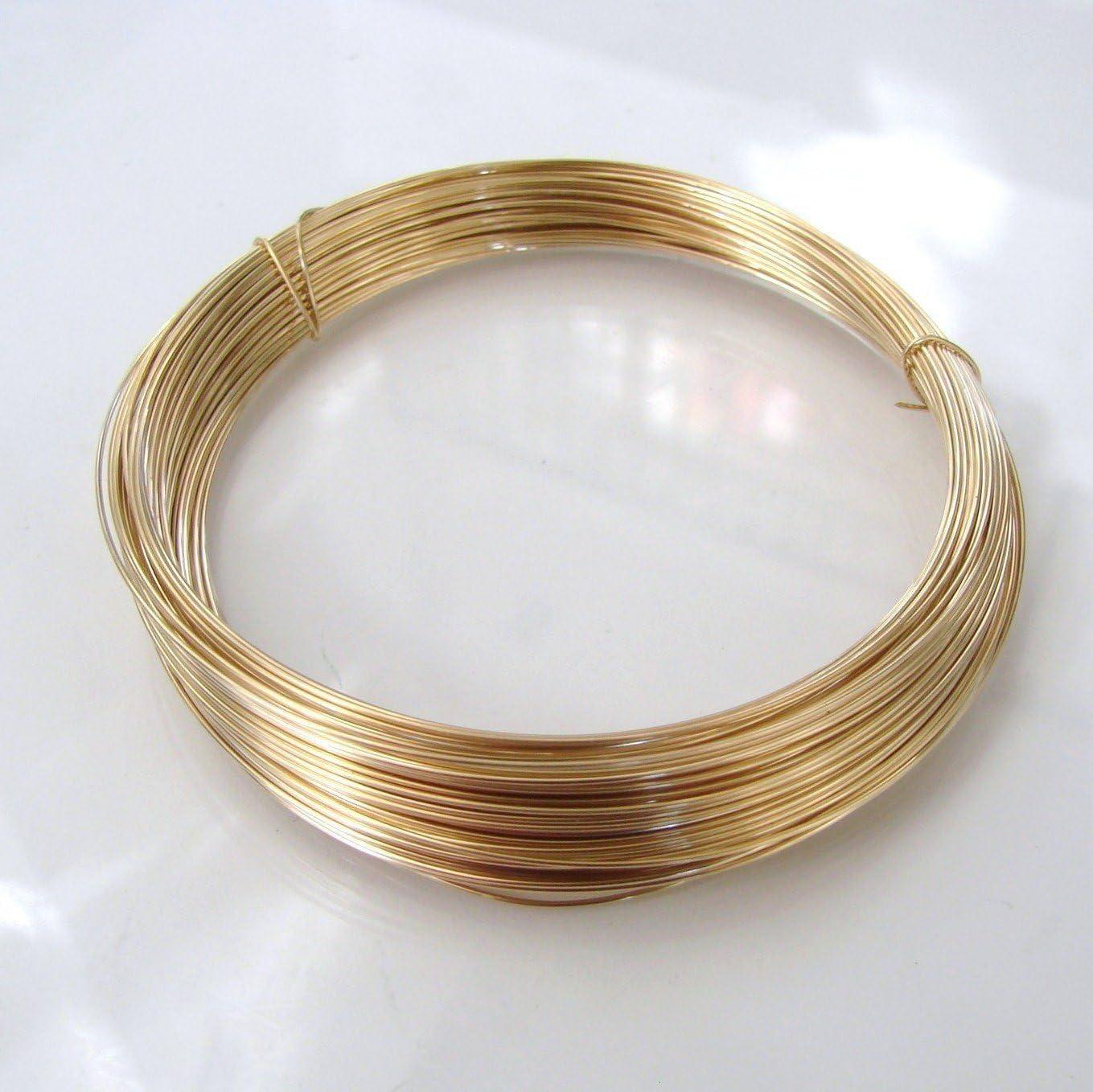 18 Gauge Gold Filled Half Hard Half Round Wire 14 K Gold Filled Priced Per Inch