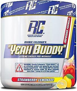 Ronnie Coleman Signature Series Yeah Buddy 30 Serve Pre-Workout Supplement, Strawberry Lemonade, 240 Gram