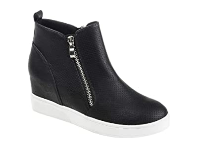 Journee Collection Pennelope Sneaker Wedge (Black) Women