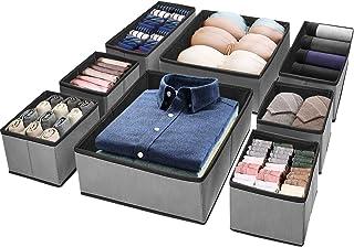 Puricon 8 Boîtes de Rangement Ouvertes pour Etagère Armoire et Placard, Paniers de Rangement Pliables en Tissu pour Jouets...