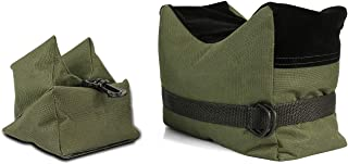 Twod Outdoor Shooting Rest Bags Target Sports Shooting Bench Rest Front & Rear Support SandBag Stand Holders for Gun Rifle Shooting Hunting Photography - Unfilled