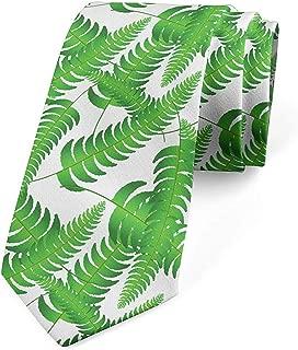 Corbata para hombres, siluetas frondas de color verde vivo, verde ...