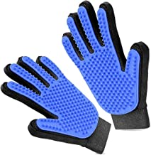 Pet Cat-Dog Grooming Glove - Brush Glove Hair Removal for Dogs/Cats,Pet Massage Gloves Left & Right Hand Draw Dogs Cats Ho...