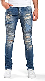 Redbridge Hombres Vaqueros Slim-Fit Denim Jeans Pintado Casual Designer Pantal/ón