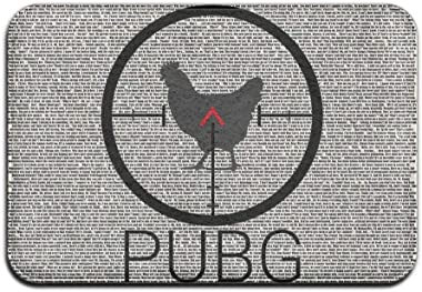 Battlegrounds PUBG Doormat Entrance Mat Floor Mat Rug Indoor/Outdoor/Front Door/Bathroom Mats Rubber Non Slip 40X60cm/23.6(L)