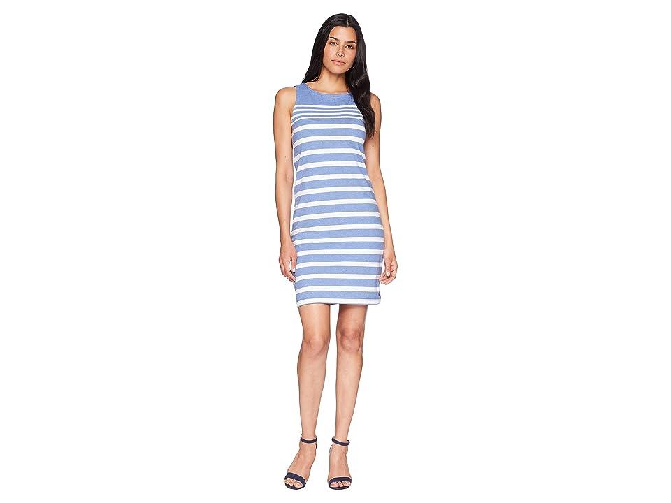 Joules Riva Sleeveless Jersey Dress (Chambray Stripe) Women