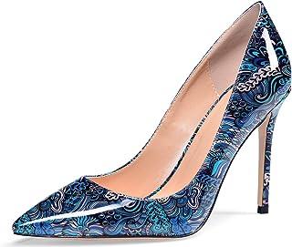 Sioreelady Scarpe col Tacco Alto da Donna di, Scarpe da Punta Chiuse Classiche Sexy Classiche, Stiletto Heels con Tacco Al...