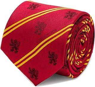 Men's 100% Silk Red Harry Potter Gryffindor Pinstripe Tie Necktie