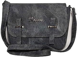 فكريا حقيبة للنساء-رصاصي - حقائب طويلة تمر بالجسم