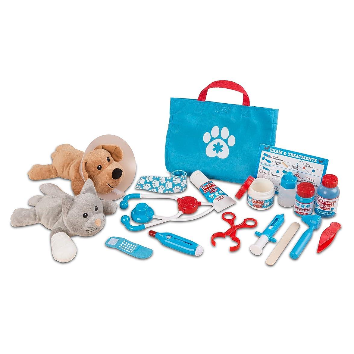 孤独なマニュアルハーフメリッサ&ダグ(Melissa&Doug) 動物のお医者さん ドクターセット 獣医 ごっこ遊び おもちゃ 8520 正規品