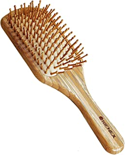 ORIENEX(オリエンネックス) ヘアブラシ 木製櫛 美髪ケア 頭皮&肩&顔マッサージ(大)