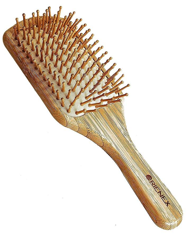 暴動献身話をするOrienex ヘアブラシ 木製櫛 美髪ケア 頭皮&肩&顔マッサージ(大)