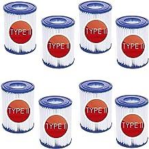 Denkmsd Cartucho de filtro para piscina tipo 2 para Bestway II filtro tamaño 2,para Bestway 58094 cartuchos de filtro tamaño II para Bestway filtro de limpieza de piscina,accesorio reutilizable 8 PCS