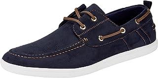 oodji Ultra Hombre Zapatos de Ante Sintético con Cordones Decorativos