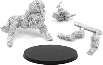 Stonehaven Yak Mount Miniature Figure (for 28mm Scale Table Top War Games) - 4 Pieces - Made in US