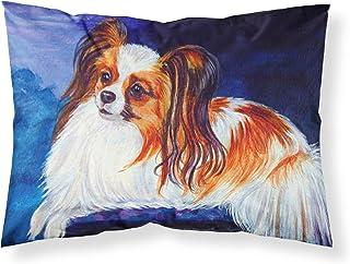 Caroline's Treasures 7127PILLOWCASE Papillion Moisture Wicking Fabric Standard Pillowcase, Large, Multicolor