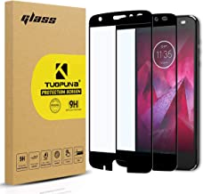 Motorola Moto Z2 Force Screen Protector, 2-Pack Tempered Glass (Full Screen Coverage) with Lifetime Replacement Warranty for Moto Z Force Edition (2nd Gen) -Black