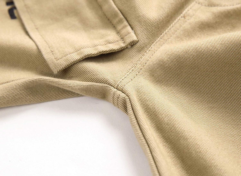 YoungSoul Pantalon Cargo Gar/çon Taille /Élastiqu/ée Jogging Slim Enfant