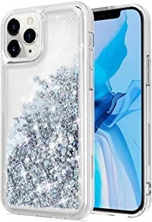 WORLDMOM iPhone 12 Case, iPhone 12 Pro Cover, Bling Flowing Liquid Floating Sparkle Colorful Glitter Waterfall TPU Protect...