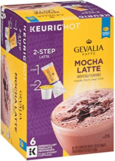 Gevalia Mocha Latte Espresso 6 Keurig K-Cups + 6 Froth Packets