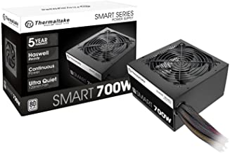 Thermaltake Smart 700W 80+ White Certified PSU, Continuous Power with 120mm Ultra Quiet Fan, ATX 12V V2.3/EPS 12V Active P...