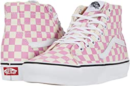 (Checkerboard) Fuchsia Pink/True White