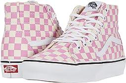 (Checkerboard) Fuchsia Pink/True White