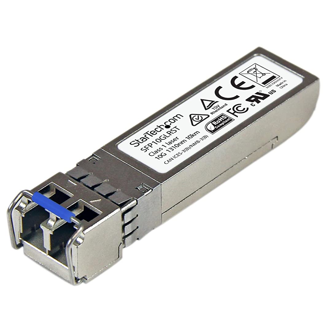 グレードネイティブ小麦粉StarTech.com SFP+モジュール Cisco製SFP-10G-LR互換 10GBASE-LR準拠光トランシーバ ライフタイム保証 SFP10GLRST