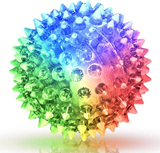 Soft Spike Flashing Light Up Bounce Balls (Set of 6)
