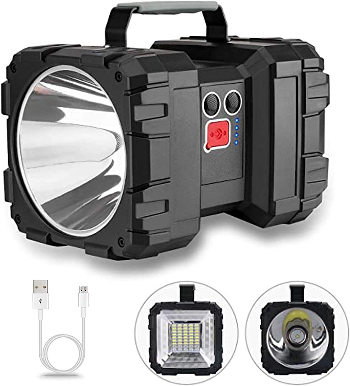 1200 Lumen Flashlight with 超目玉 3+4 Recha 品質検査済 Modes LED Spotlight Lights