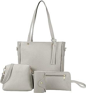 Damen Umhängetaschen|Schultertaschen|Messenger-Handtaschen| Geldbörse 4 Sets Taschen für Mütter, Freundinnen und Ehefrauen...