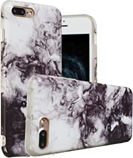 iPhone 8 Plus Case,iPhone 7 Plus Case, Yoomer Marble Creative Design Ultra-Thin Clear Soft Silicone Bumper Shockproof Gel TPU Rubber Glossy Skin Anti-Finger Print Case for iPhone 8 Plus/7 Plus 5.5
