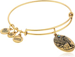 "Alex and Ani ""Path of Symbols"" Sphinx Expandable Wire Bangle Charm Bracelet"