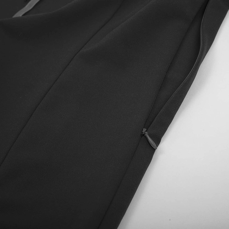 SCARLET DARKNESS Womens Retro Dress Renaissance Bodycon Short Sleeve V-Neck