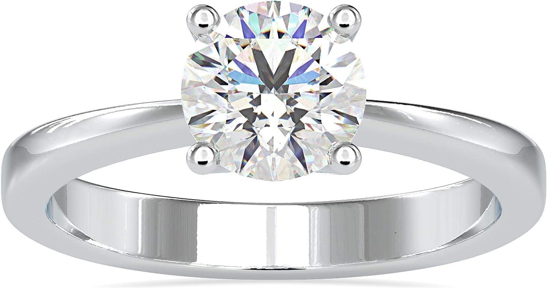 New sales Diamondrensu 1.09 CT Round Brilliant Free shipping / New Soli Cut VVS1 FG Moissanite