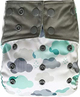 Reusable Waterproof Diaper Cover Shell: for Baby Prefold Cloth Diapers, Flats or Inserts (Cloud)