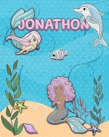 Handwriting Practice 120 Page Mermaid Pals Book Jonathon: Primary Grades Handwriting Book K-2