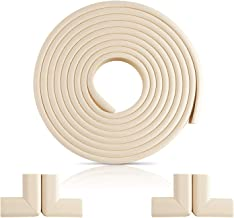 NEW Furniture Edge and Corner Guards | 16.2ft Protective Foam Cushion | 15ft Bumper 4 Adhesive Childsafe Corners | Baby Child Proofing Foam Set and Safe for Table | Fireplace | Countertop | White