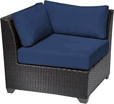 TK Classics Barbados Corner Sofa, Set of 2, Navy