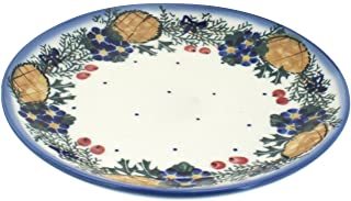 Blue Rose Polish Pottery Pinecone Dessert Plate