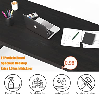 """NSdirect 63"""" Large Computer Desk,Modern Simple Style PC Table Office Desk Wide Workstation for Study Writing,Gaming and H"""