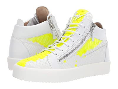 Giuseppe Zanotti May London Mid Top Zayn Sneaker (White/Yellow) Men
