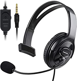 PS4 Unilateral Headset, Joso 3.5mm Wired Traffic Chat Online Gaming One Ear Headphone with Microphone for Sony Playstation...