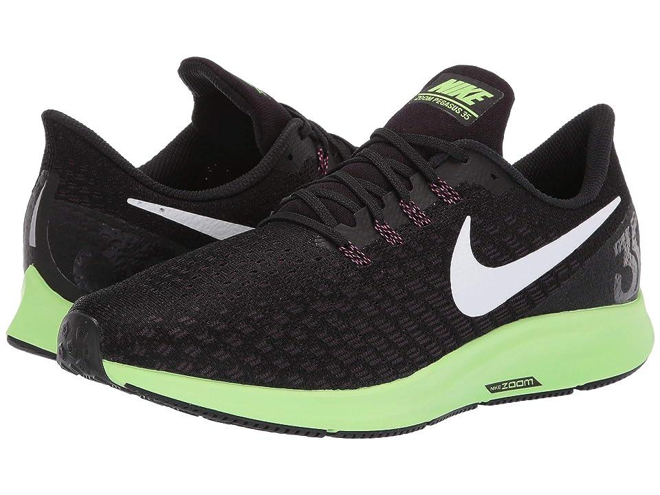 Nike Air Zoom Pegasus 35 (Black/White/Burgundy Ash/Lime Blast) Men