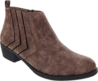 Women's Tessie Ankle Boot with Stretch Gore Cutout Deisgn Detail Bootie