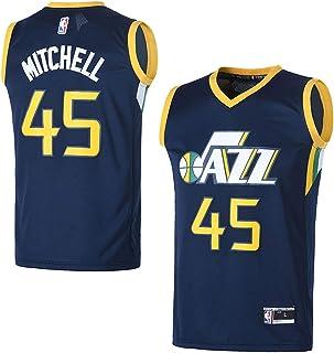 e6698c64d8c OuterStuff Youth Utah Jazz  45 Donovan Mitchell Kids Basketball Jersey