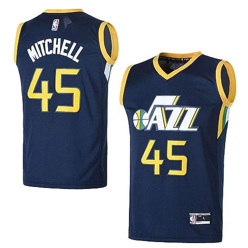 OuterStuff Youth Utah Jazz  45 Donovan Mitchell Kids Basketball Jersey 7e8fd9532