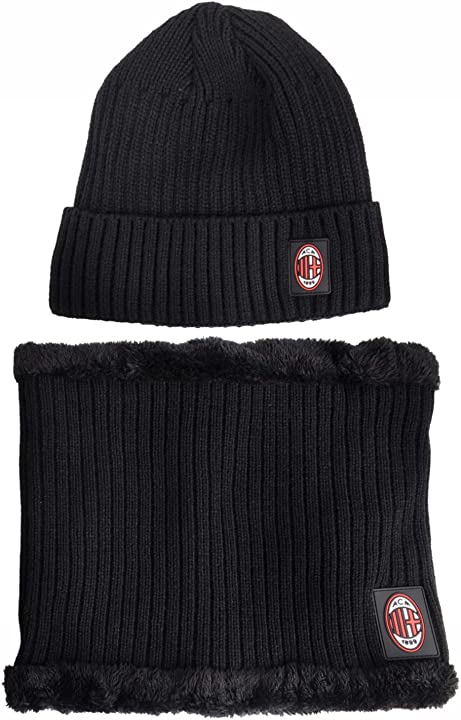 Set cappello e scaldacollo unisex , nero, xl ac milan 141513